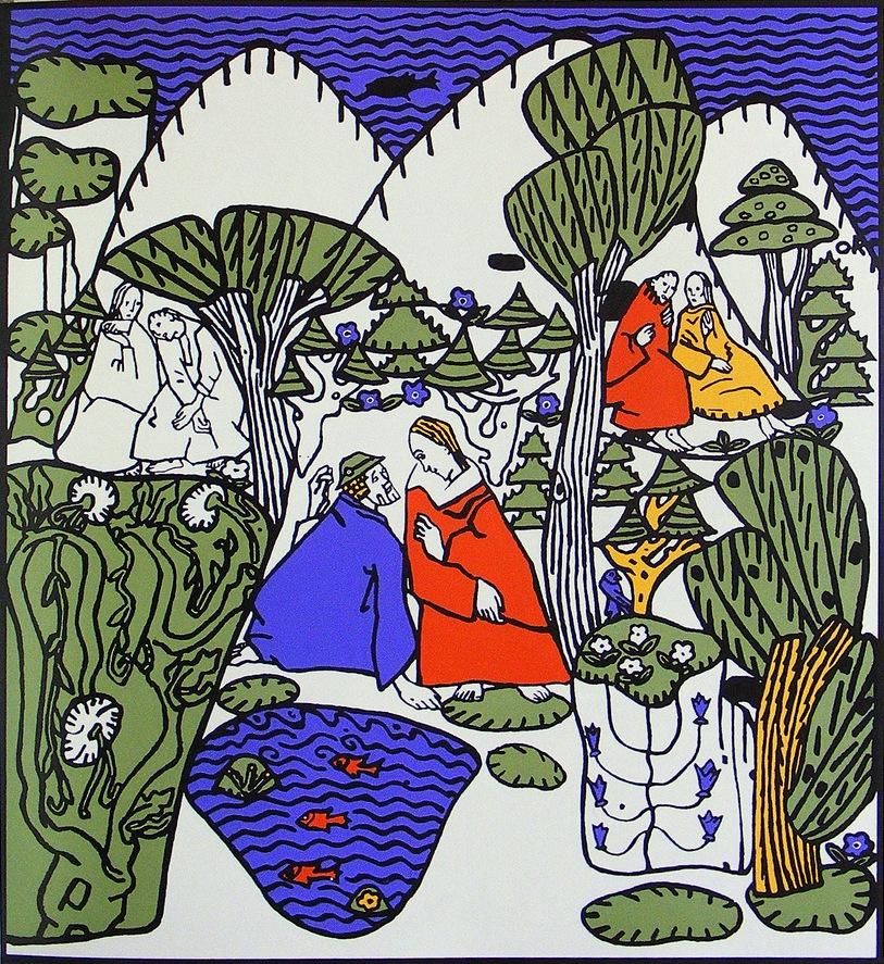 Image: 'Dialogue' by Viennese artist Oskar Kokoshka